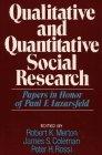 Book Cover Qualitative and Quantitative Social Research: Papers in Honor of Paul F. Lazarsfeld