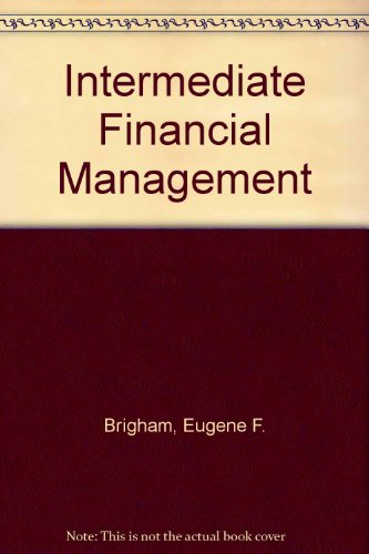 Book Cover Intermediate Financial Management