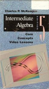 Book Cover Core Concept Intermediate Algebra