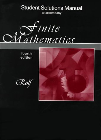 Book Cover SRM - FINITE MATHEMATICS, 4E