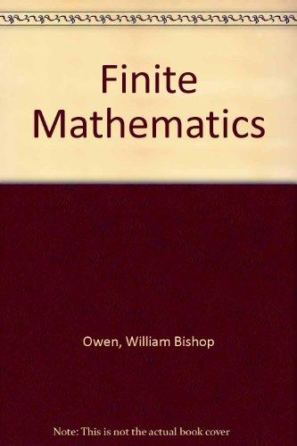 Book Cover Finite Mathematics