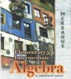 Book Cover Elementary & Intermediate Algebra: A Combined Course