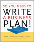 Book Cover So You Need to Write a Business Plan