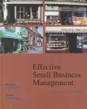 Book Cover Effective Small Business Management (7th Edition)