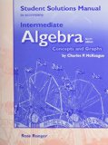 Book Cover Student Solutions Manual for McKeague's Intermediate Algebra: Concepts and Graphs