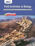 Book Cover Holt Biology Texas: Field Activities Grades 9-12