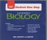Book Cover Holt Student One Stop: Modern Biology