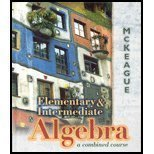 Book Cover Elementary and Intermediate Algebra: A Combined Course (with Digital Video Companion)
