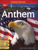 Book Cover Holt American Anthem: TEACHERS EDITION 2007 Edition
