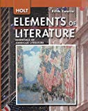 Book Cover Holt Elements of Literature:  Essentials of American Literature, 5th Course