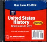 Book Cover Holt United States History: Quiz Game Grades 6-9 Beginnings to 1877