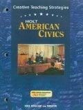 Book Cover Holt American Civics Creative Teaching Strategies
