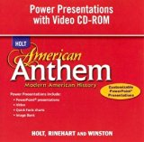 Book Cover American Anthem, Modern American History: Power Presentations with Video CD-ROM