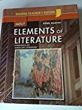Book Cover Holt Elements of Literature, Fifth Course, Essentials of American Literature, Indiana Teacher's Edition
