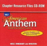 Book Cover American Anthem, Modern American History: Chapter Resource Files CD-ROM