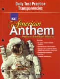 Book Cover Modern American History: Daily Test Practice Transparencies (American Anthem)