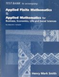 Book Cover Applied Finite Mathematics & Applied Mathematics for Business, Economics, Life and Social Sciences