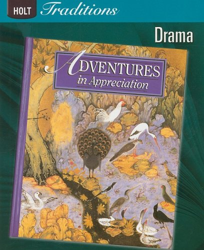 Book Cover Holt Traditions Warriner's Handbook: ADVENTURES IN APPRECIATION: DRAMA 2008 (Holt Traditions 2008)