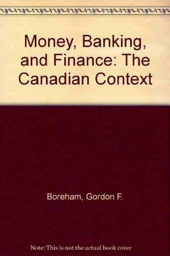 Book Cover Money, Banking, and Finance: The Canadian Context