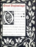Book Cover Great Beginnings: Opening Lines of Great Novels