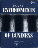 Book Cover Environments of Business: Ba 243