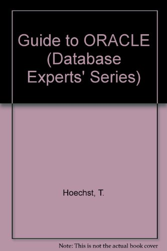 Book Cover Guide to Oracle (Database Experts' Series)