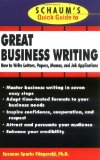 Book Cover Schaum's Quick Guide to Great Business Writing