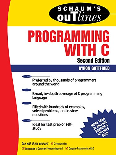 Book Cover Schaum's Outline of Programming with C