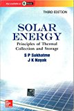 Book Cover Solar Energy : Principles Of Thermal Collection And Storage, 3Ed