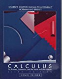 Book Cover Student's Solutions Manual to Accompany Hoffman/Bradley Calculus: For Business, Economics, and the Social and Life Sciences