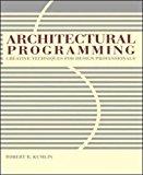 Book Cover Architectural Programming: Creative Techniques for Design Professionals
