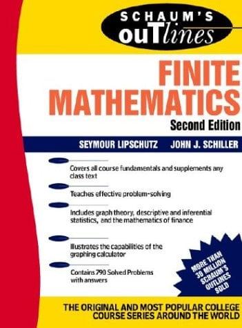 Book Cover Schaum's Outline of Finite Mathematics
