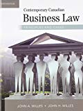 Book Cover Contemporary Canadian Business Law: Principles and Cases (McGraw-Hill series in psychology)