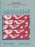 Book Cover Study guide for use with Accounting: The basis for business decisions