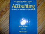 Book Cover Accounting Work Sheets Chapters 1-15 for Use With Accounting: The Basis for Business Decisions