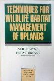 Book Cover Techniques for Wildlife Habitat Management of Uplands (Biological Resource Management)