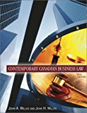 Book Cover Contemporary Canadian Business Law