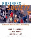 Book Cover Business and Society: Stakeholders, Ethics, Public Policy w/ Powerweb card 11e