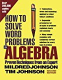 Book Cover How to Solve Word Problems in Algebra, (Proven Techniques from an Expert)