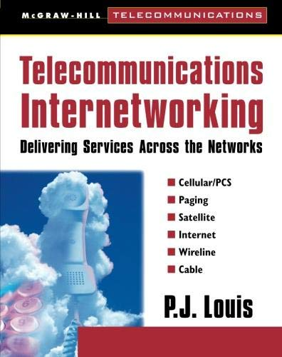 Book Cover Telecommunications Internetworking: Delivering Services Across the Networks