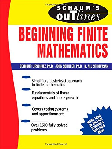Book Cover Schaum's Outline of Beginning Finite Mathematics (Schaum's Outline Series)
