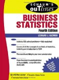 Book Cover Schaum's Outline of Business Statistics Fourth Edition