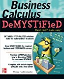 Book Cover Business Calculus Demystified