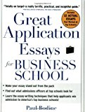Book Cover Great Application Essays for Business School (Great Application for Business School)