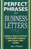 Book Cover Perfect Phrases for Business Letters (Perfect Phrases Series)