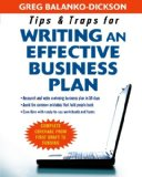 Book Cover Tips and Traps For Writing an Effective Business Plan
