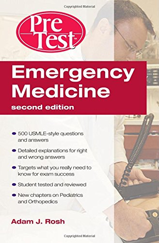 Book Cover Emergency Medicine PreTest Self-Assessment and Review, Second Edition (PreTest Clinical Medicine)