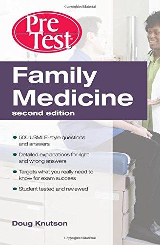 Book Cover Family Medicine  PreTest Self-Assessment & Review, Second Edition (PreTest Clinical Medicine)