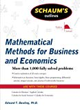 Book Cover Schaum's Outline of Mathematical Methods for Business and Economics (Schaum's Outlines)