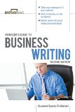 Book Cover Manager's Guide To Business Writing 2/E (Briefcase Books Series)